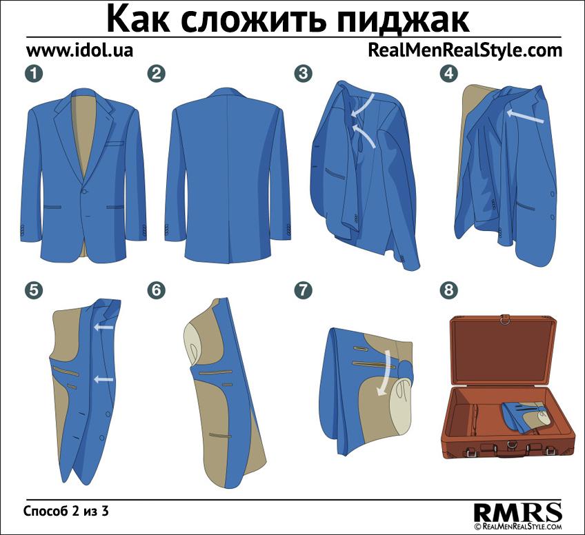как сложить пиджак 2
